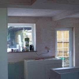 plastering work by K Willis Builders & Contractors